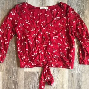 Red Hollister blouse